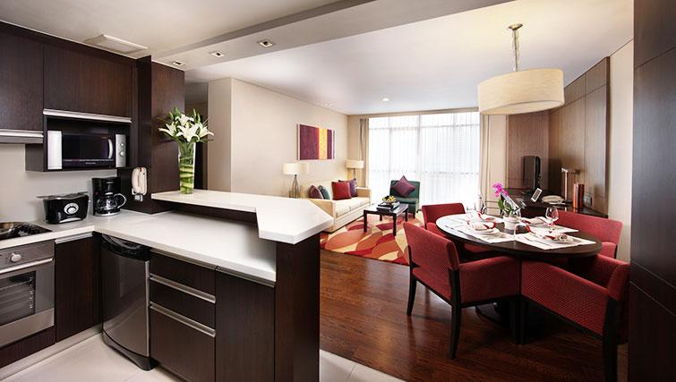 Equipped kitchen in Marriott Executive Apartments Sathorn Vista - Bangkok