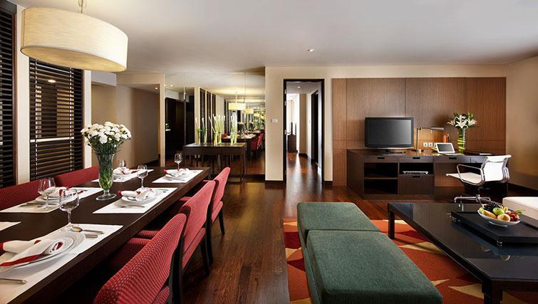Living/dining area at Marriott Executive Apartments Sathorn Vista - Bangkok