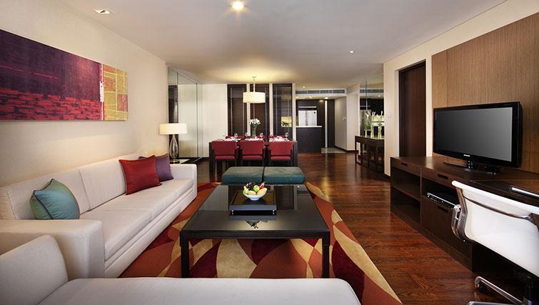 Stylish living area in Marriott Executive Apartments Sathorn Vista - Bangkok