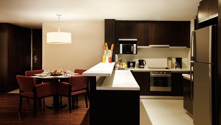 Equipped kitchen at Marriott Executive Apartments Sathorn Vista - Bangkok