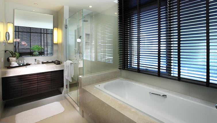 Pristine bathroom in Marriott Executive Apartments Sathorn Vista - Bangkok