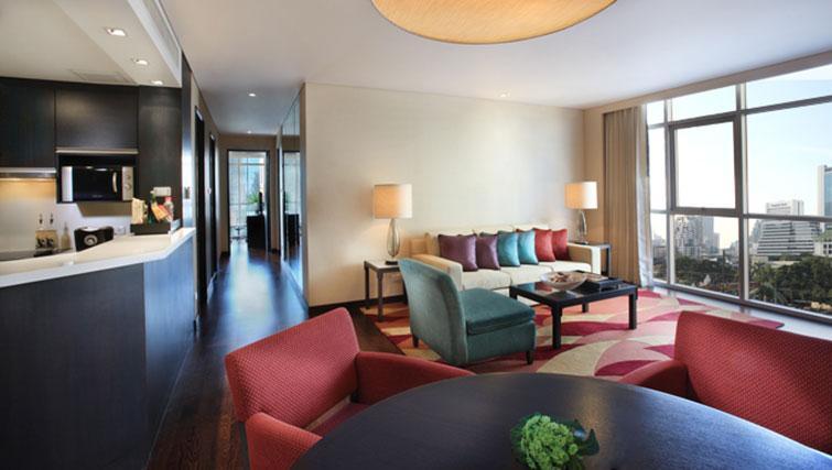 Modern living area at Marriott Executive Apartments Sathorn Vista - Bangkok