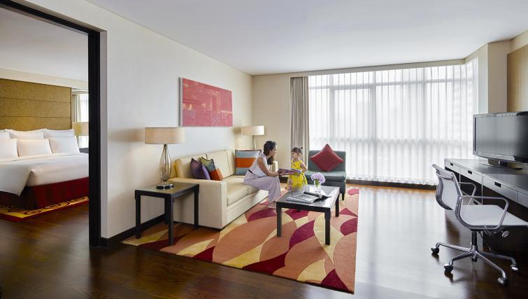Living room at Marriott Executive Apartments Sathorn Vista - Bangkok