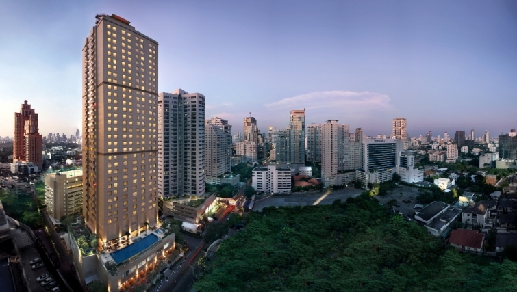 Grand exterior of Marriott Executive Apartments Sukhumvit Park - Bangkok