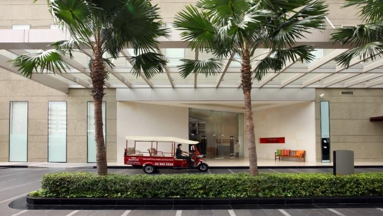 Inviting exterior of Marriott Executive Apartments Sukhumvit Park - Bangkok
