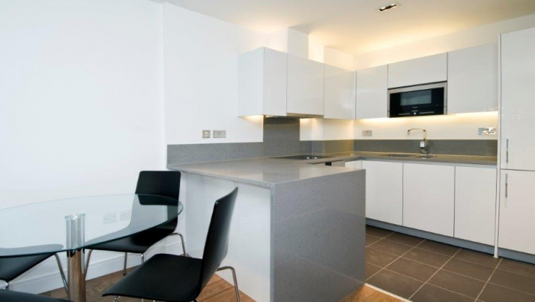 Ideal kitchen in Dickens Yard Apartments
