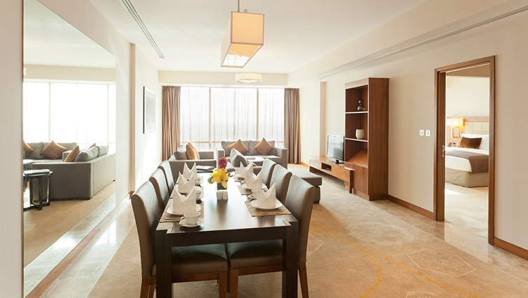 Elegant dining area in InterContinental Doha The City