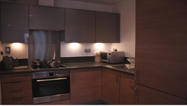 Equipped kitchen in Paper Mill Apartments