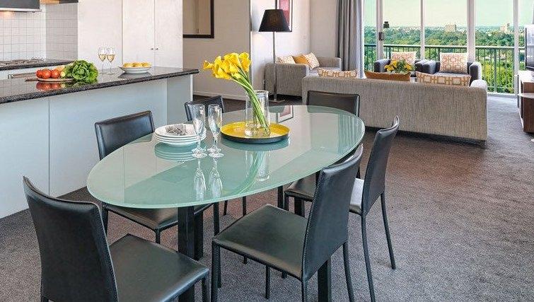 Beautiful dining area at Adina Apartment Hotel Melbourne, Flinders Street