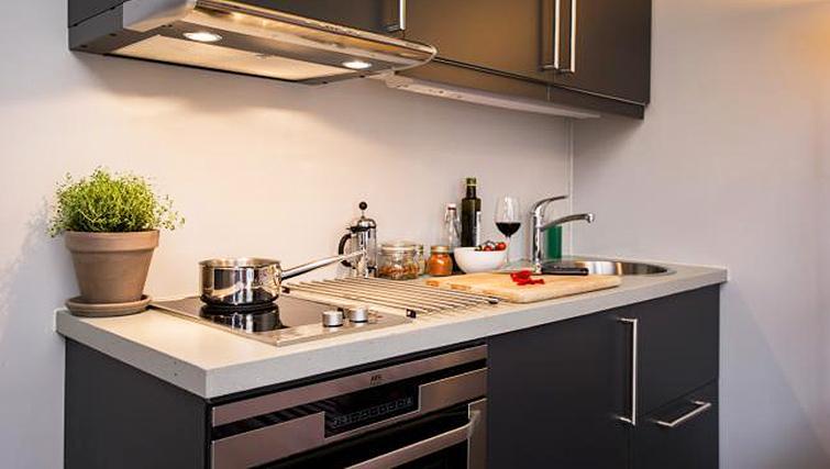 Kitchen at Skovveien Apartments