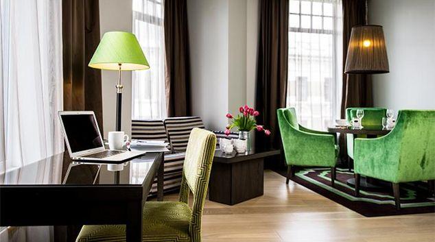 Classy living area in Skovveien Apartments