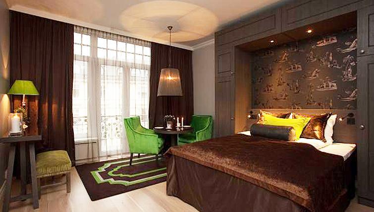 Delightful bedroom in Skovveien Apartments