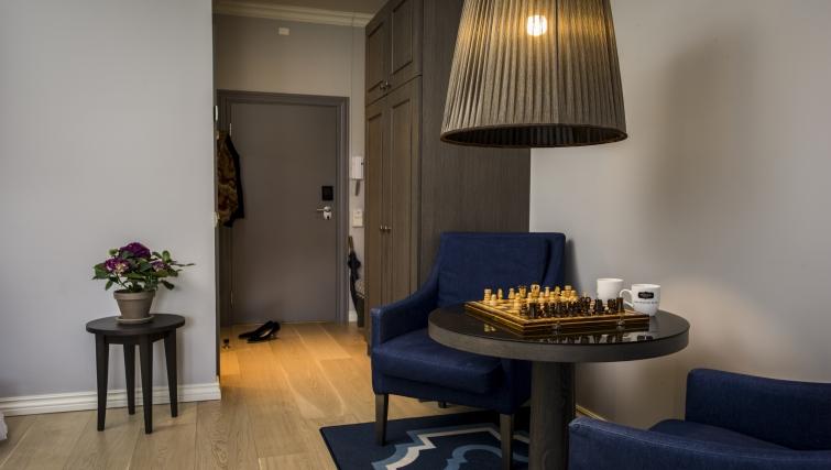Welcoming hallway in Skovveien Apartments