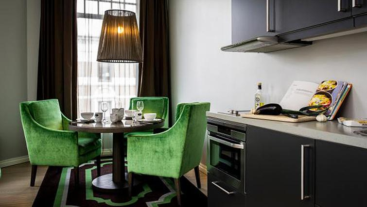 Practical kitchen in Skovveien Apartments