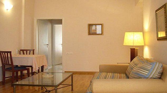 Simplistic living area in Delice Hotel Apartments