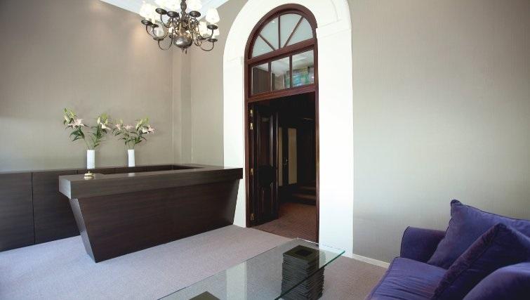 Modern reception in The Kefalari Suites