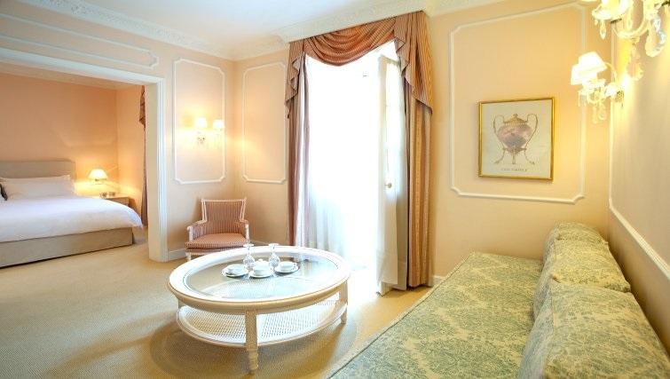 Elegant living area in The Kefalari Suites