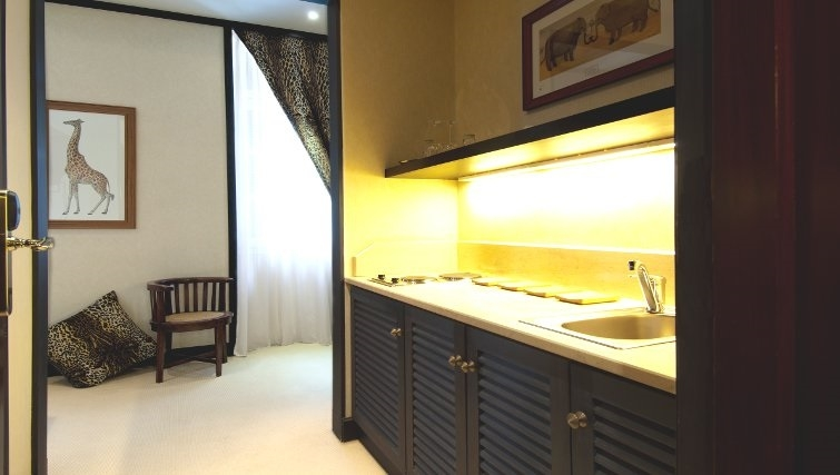 Ideal kitchen in The Kefalari Suites