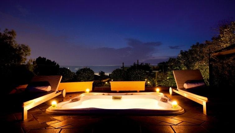 Glorious hot tub in The Kefalari Suites