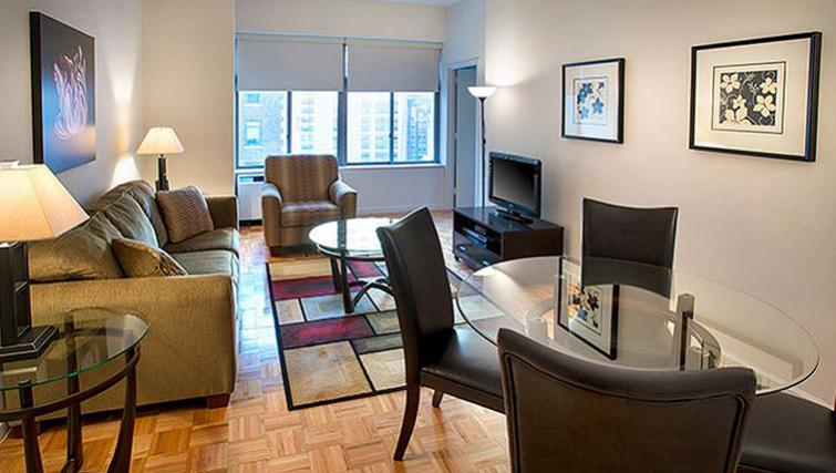 Attractive dining area in 90 Washington Street Apartments