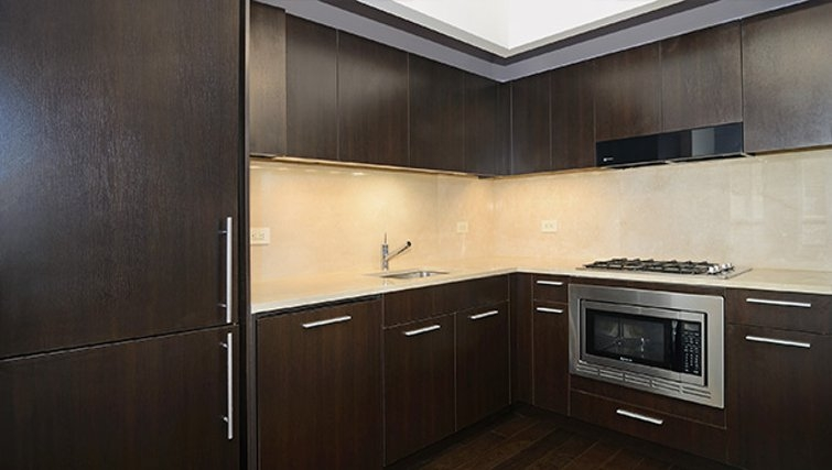 Practical kitchen in 95 Wall Street Apartments