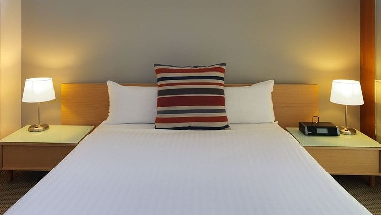 Bright bedroom in Adina Apartment Hotel Melbourne, St Kilda