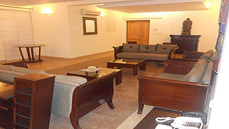 Charming living area in Sahara Grace Apartments