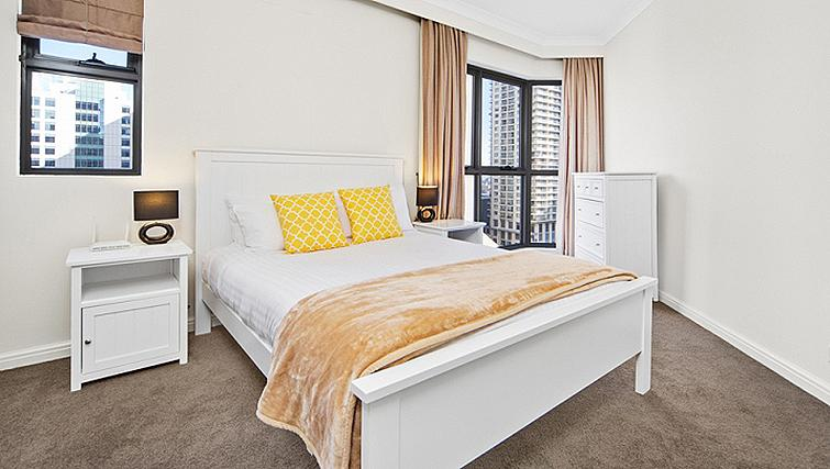 Relaxing bedroom in Astra Regency Hyde Park Apartments