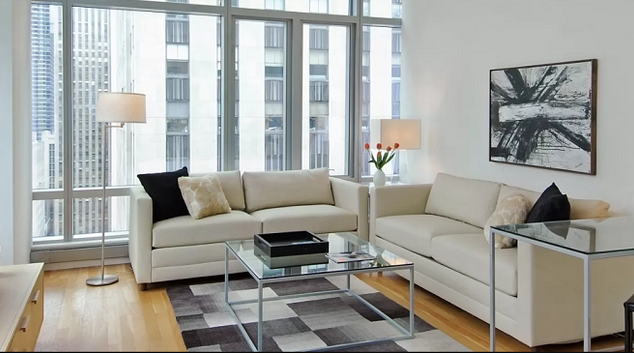Living room at The Centria Apartments