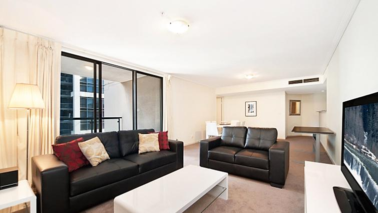 Huge living area at Astra Hordern Towers Apartments