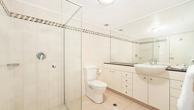 Immaculate bathroom at Astra Hordern Towers Apartments
