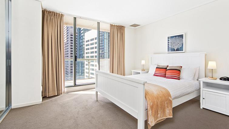 Amazing bedroom at Astra Hordern Towers Apartments
