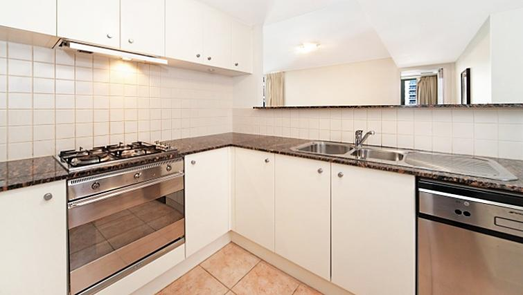 Spacious kitchen at Astra Hordern Towers Apartments