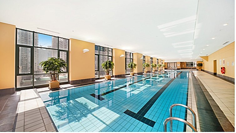 State of the art pool at Astra Hordern Towers Apartments