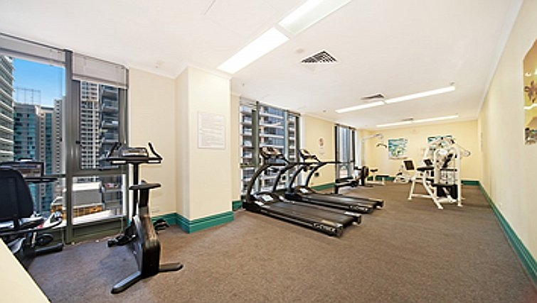 Stunning fitness centre at Astra Hordern Towers Apartments