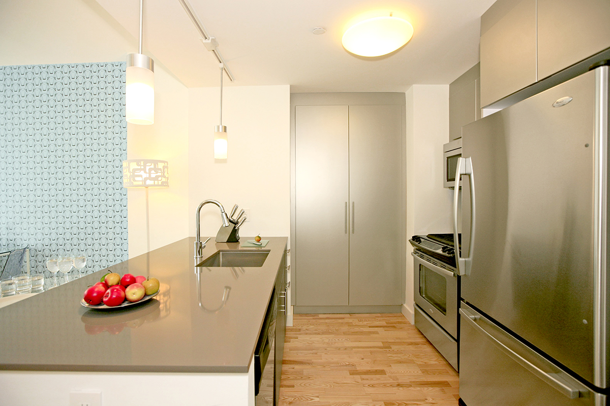 Kitchen at Ten23 Apartments