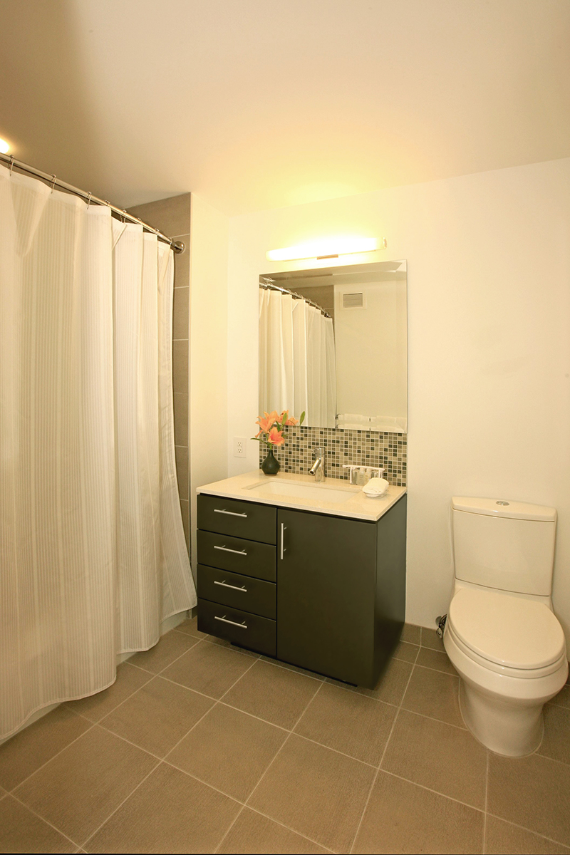 Bathroom at Ten23 Apartments