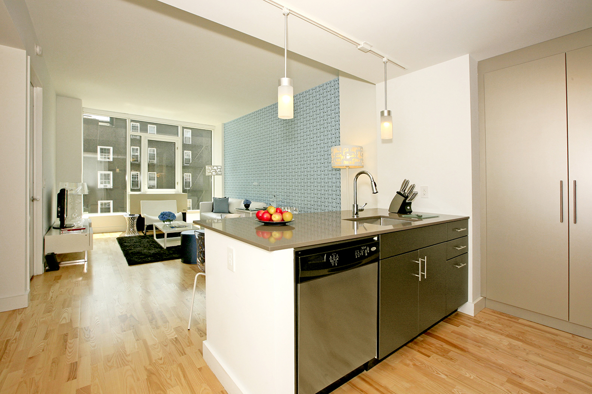 Kitchen facilities at Ten23 Apartments