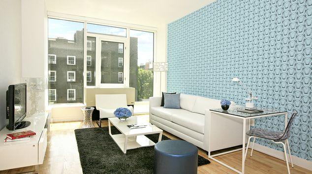 Living room at Ten23 Apartments