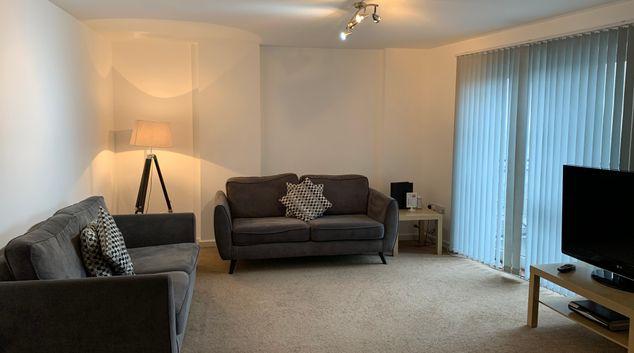 Living area at Cotels The Pinnacle Apartments, Centre, Northampton