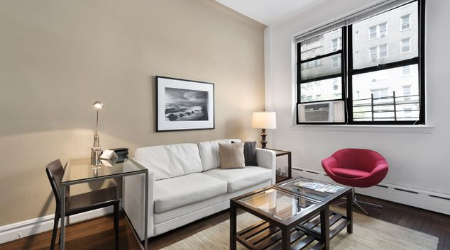 Sofa at 142 West 86th Street Apartments