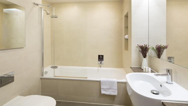Pristine bathroom at Victoria by Q Apartments