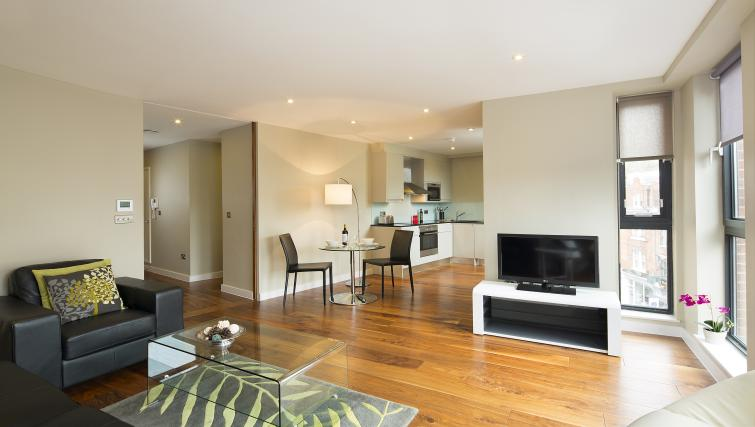 Living area at Victoria by Q Apartments