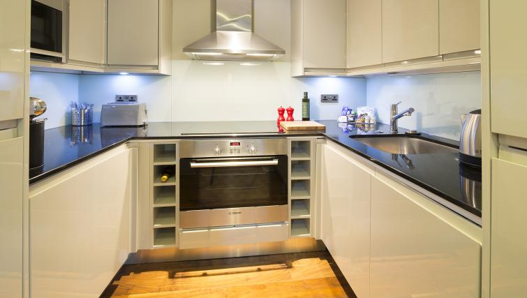 Bright kitchen at Victoria by Q Apartments