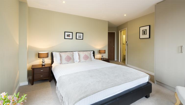 Master bedroom at Victoria by Q Apartments