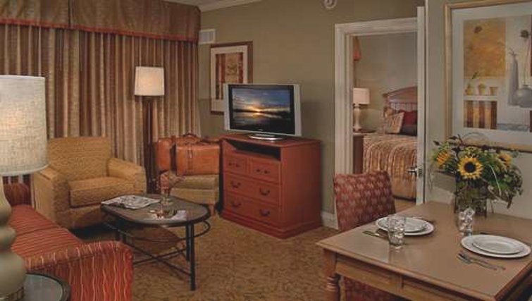 Functional living area in Homewood Suites Palm Beach Gardens