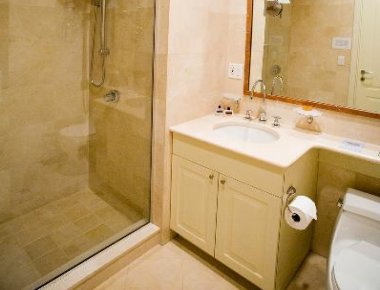 Elegant bathroom in 25 East 38th Street Apartments
