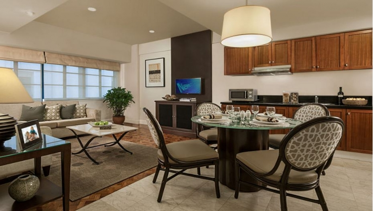 Dining area in Somerset Olympia Apartments