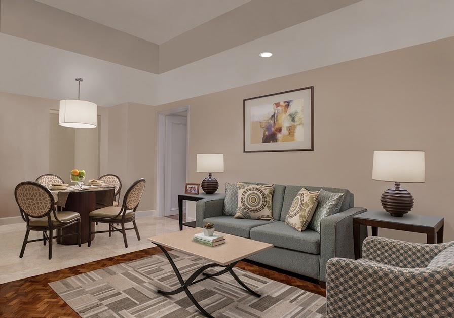 Living room at Somerset Olympia Apartments, Makati, Manila