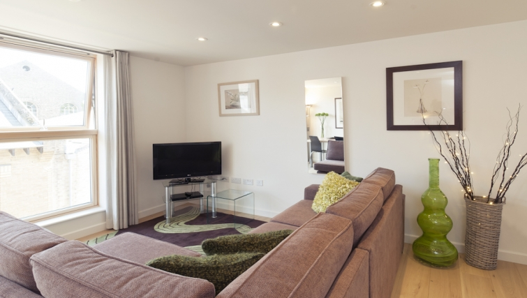Stylish living area at Cambridge Place Apartments